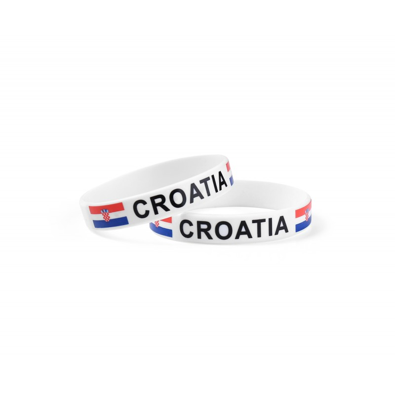 Croatia White World Cup Olympics Silicone Wristband (Pack of 1)