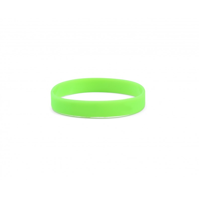 Plain Green Silicone Wristband (Pack of 1)