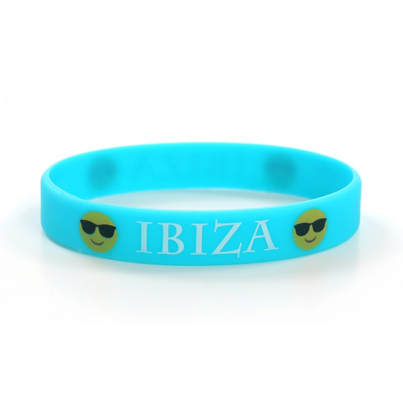 Ibiza Blue Holiday Silicone Wristband (Pack of 1)
