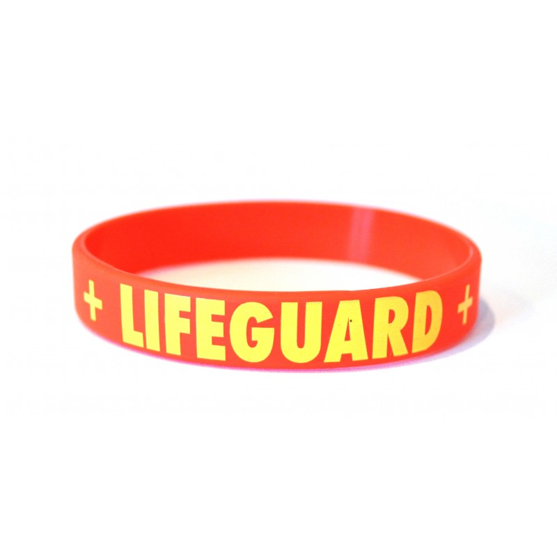 Lifeguard Red Silicone Wristband (Pack of 1)