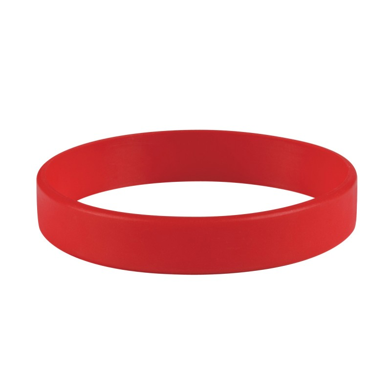 Plain Red Silicone Wristband (Pack of 1)