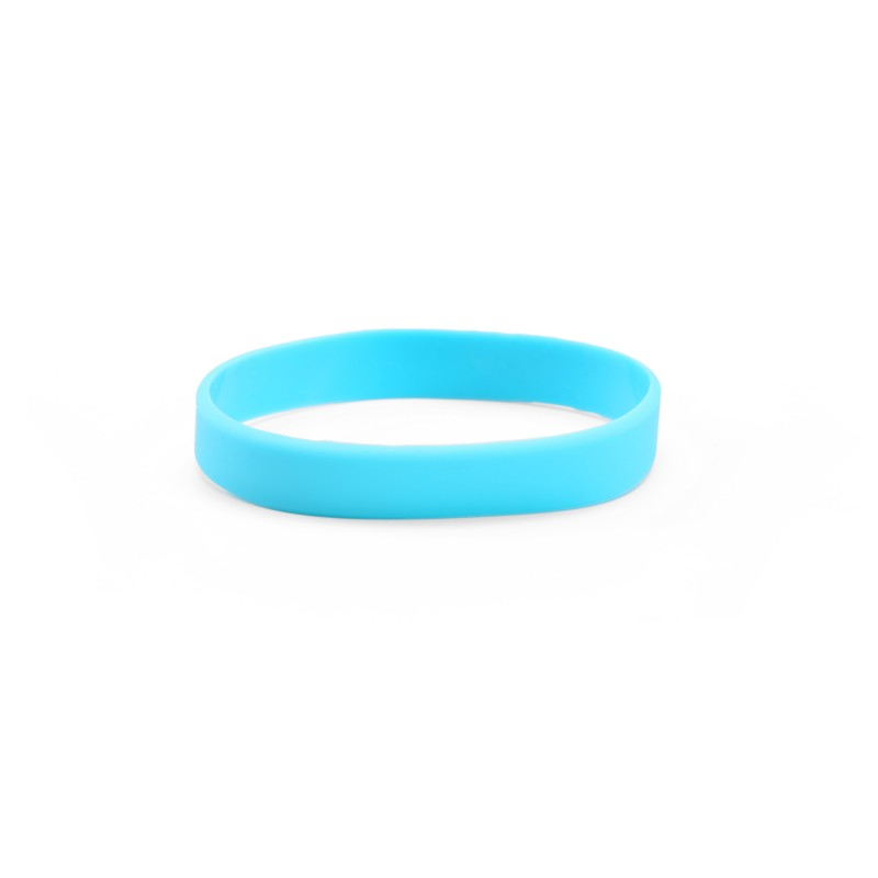 Plain Sky Blue Silicone Wristband (Pack of 1)