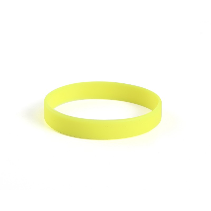 Plain Yellow Silicone Wristband (Pack of 1)