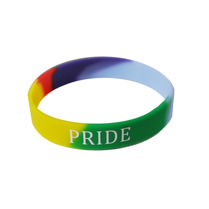 Gay Pride Rainbow LGBT Silicone Wristband (Pack of 1)