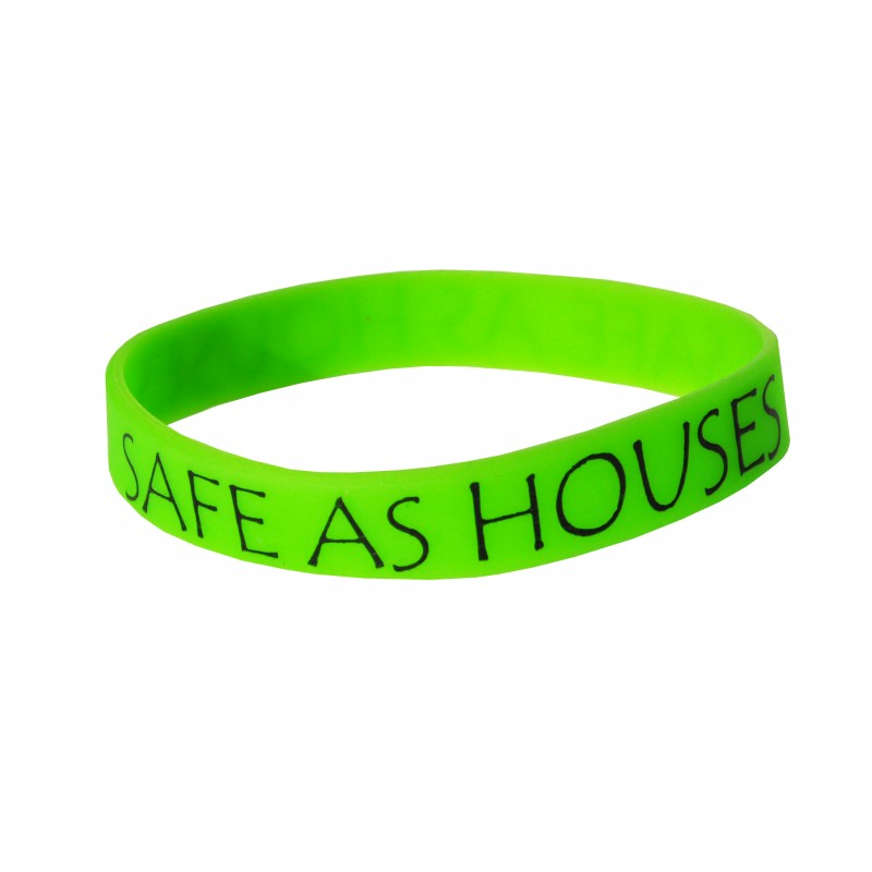 Safe As Houses Green Silicone Wristband (Pack of 1)