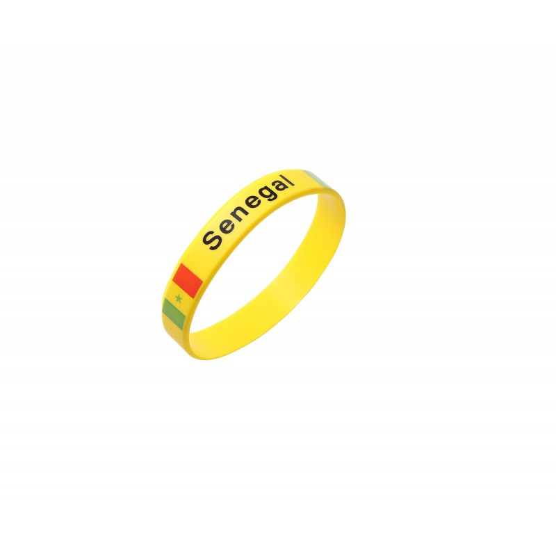 Senegal Yellow World Cup Olympics Silicone Wristband (Pack of 1)