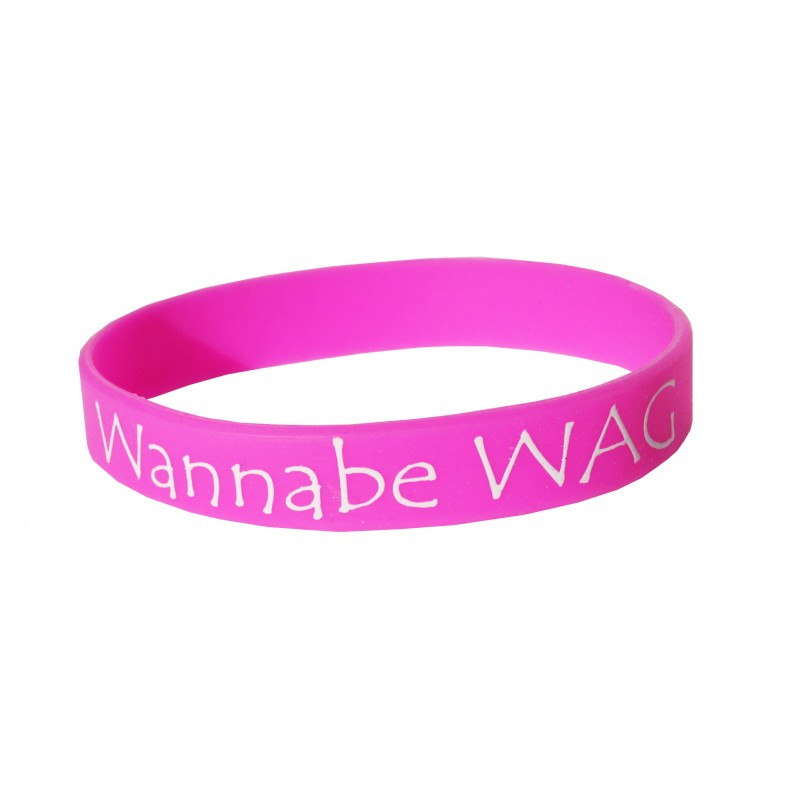 Wannabe Wag Pink Silicone Wristband (Pack of 1)