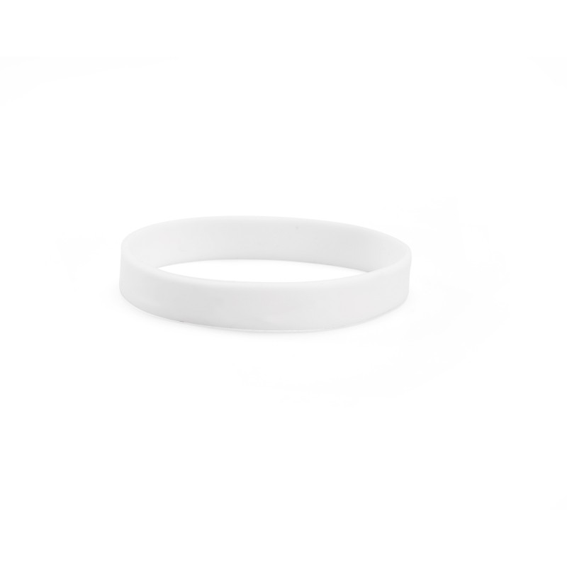 Plain White Silicone Wristband (Pack of 1)