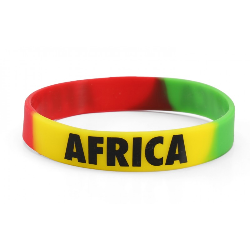 Africa Multi Coloured Silicone Wristband (Pack of 1)
