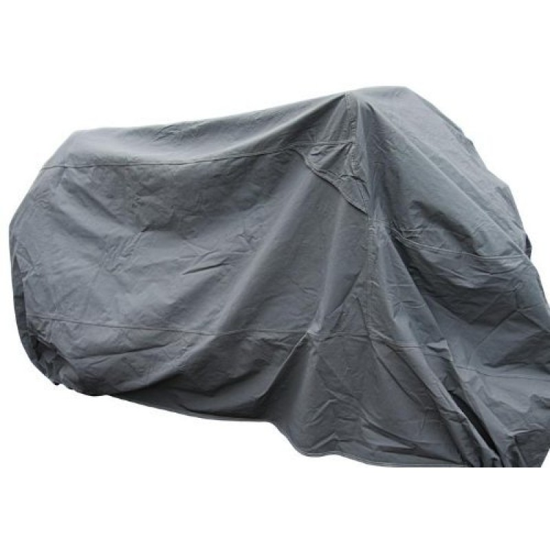 Motorcycle Cover 205cm x 125cm Silver Lightweight Waterproof Anti Dust Rain and UV Protection (NG1)